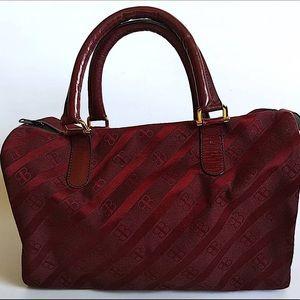 Vintage Balenciaga Scarlet Red Canvas Boston Bag